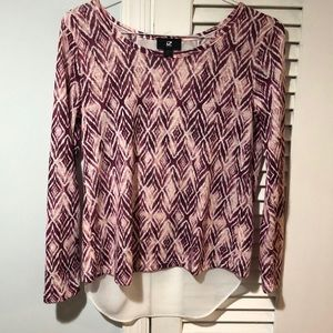 Pink Patterned Long Sleeve